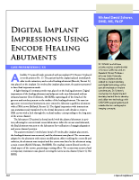 Case report: Digital implant impressions using encode healing abutments
