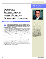 Case report: Denture stabilization with narrow diameter implants
