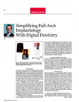 Simplifying Full Arch Implantology with Digital Dentistry