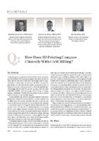 Compendium Roundtable – How Does 3D Printing Compare Clinically with CAM Milling – Compendium 2020