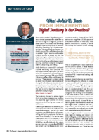 What Holds Us Back from Implementing Digital Dentistry?