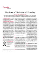 The State of Chairside 3D Printing